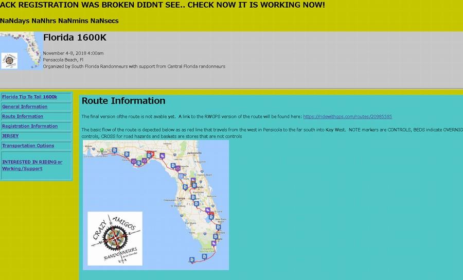 フロリダ縦断1600kmエントリーしたんだが・・質問ある?【Florida Tip To Tail 1600km】