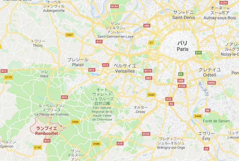 2019年PBP パリブレストパリのスタート・ランブイエ(Rambouillet)ってどこ?