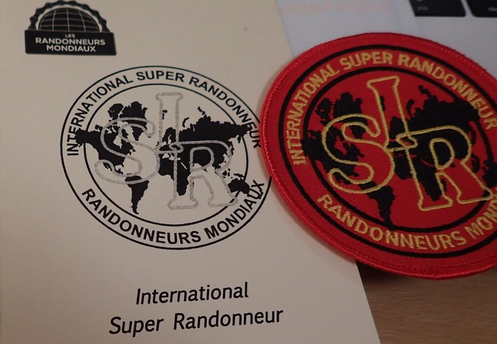 ISR(International Super Randonneur)の認定とワッペンが届いたよ