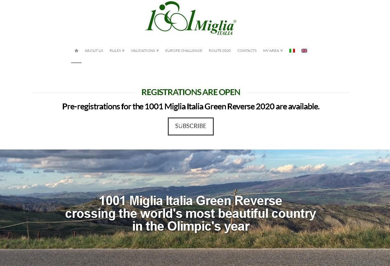 2020年【イタリア1001Miglia】ミレ・ミリアにプレエントリーした